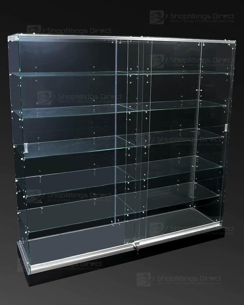 Glass Display Cabinet Showcases: Deluxe Frameless Glass Shop Display Showcases