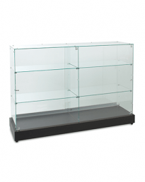 Frameless Glass Shop Display Counters (FVC-1500 Front View)