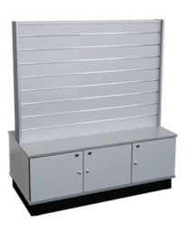 Heavy Duty Middle Slat Wall Unit With Storage (SW30MA-BS)_