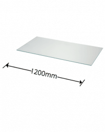 6mm Glass Shelves 1200mm Wide