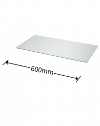 6mm Glass Shelves 600mm Wide