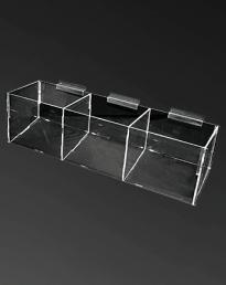 Acrylic Bin 3 Compartment (IAC-376)