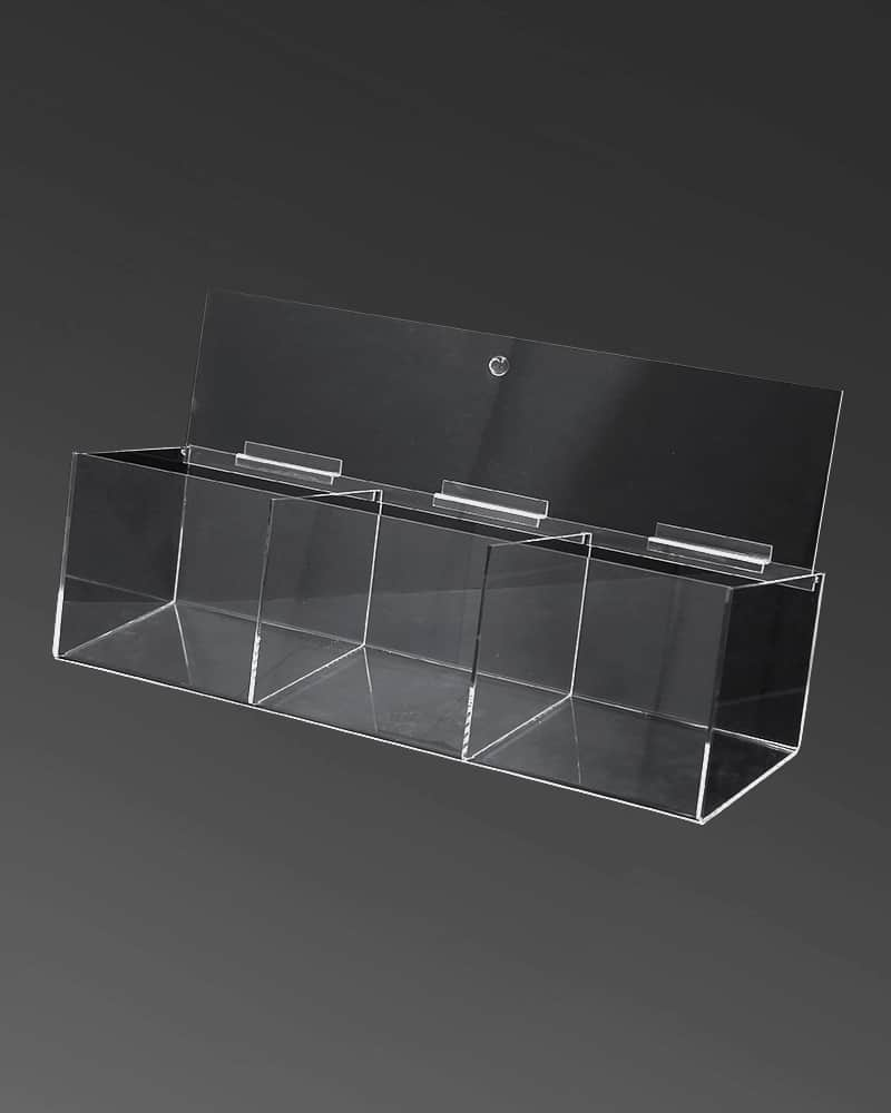 Acrylic Bin 3 Compartment Shopfittings Direct Australia