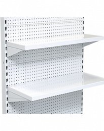 Metal Flat Front Gondola Shelves