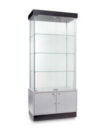 Semi Frameless Display Showcase Cabinets