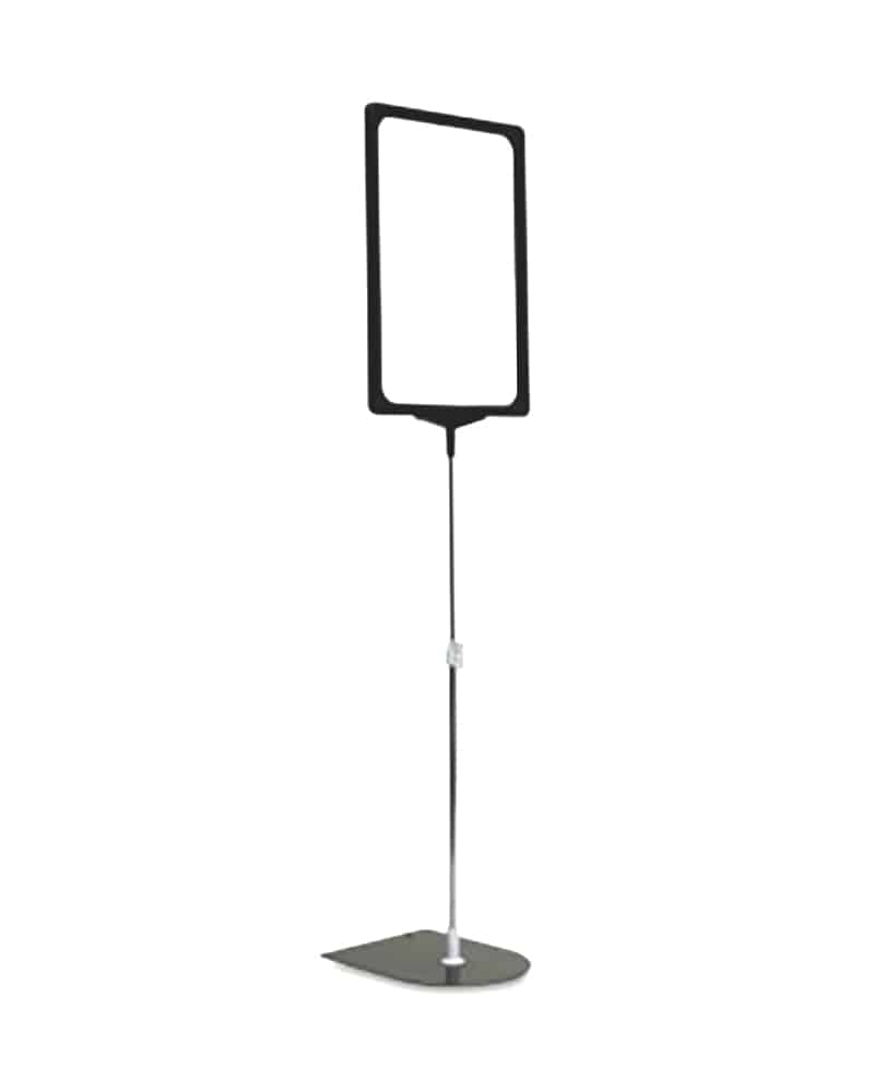 A4 Plastic Sign Frame With Stand & Stem