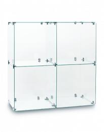 Twin 2 Cube Glass Display Tower (CUBETT-2)