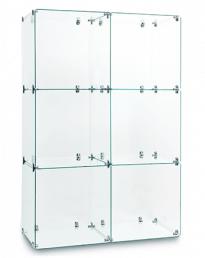 Twin 3 Cube Glass Display Tower (CUBETT-3)