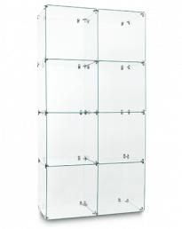 Twin 4 Cube Glass Display Tower (CUBETT-4)