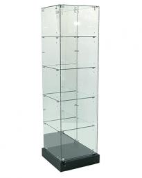 Mirror Back Frameless Tower Display Showcase 500mm (FVU-510MR)