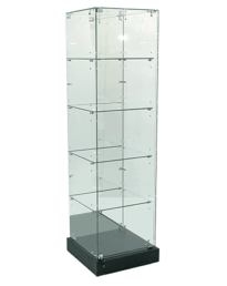 Mirror Back Frameless Tower Display Showcase 500mm (FVU-510MR)
