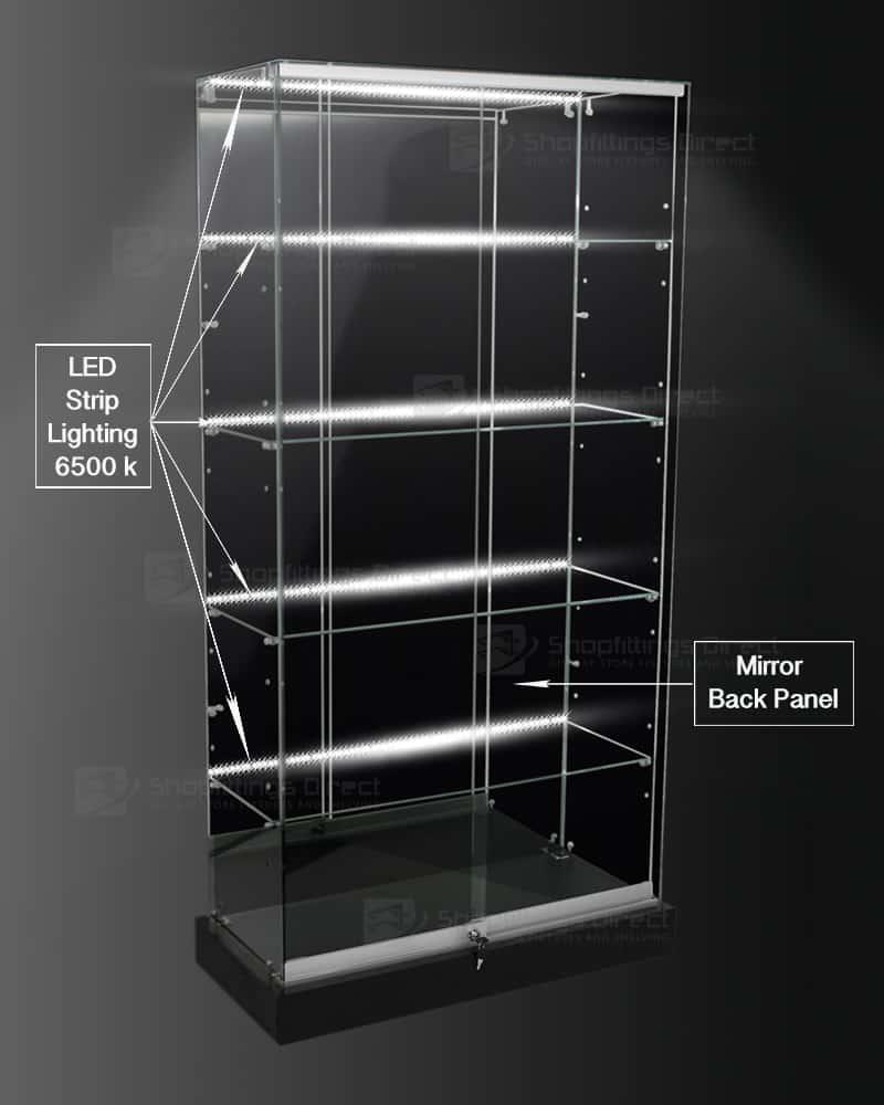 Frameless Glass Shop Display Showcase 900mm Amp 1200mm