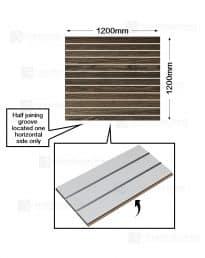 Modern Oak Woodgrain Slatwall (CSW11MO-1) Half panel-1 x 1200mm(w) x 1200mm(h)