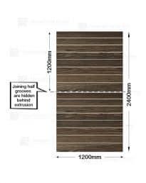 Modern Oak Woodgrain Slatwall (CSW7MO-2) Half panels-2 x 1200mm(w) x 1200mm(h)