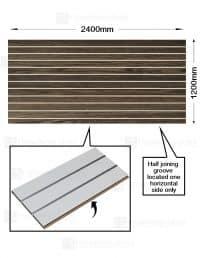 Modern Oak Woodgrain Slatwalls (CSW11MO)