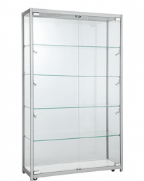 Aluminium Framed Upright Glass Display Showcase (VT51200)_