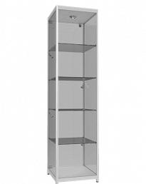 Aluminium Framed Upright Glass Display Tower