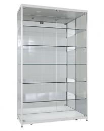 Mirror Back Aluminium Framed Upright Showcases
