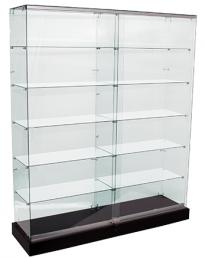 Frameless Glass Shop Display Showcase 2100mm